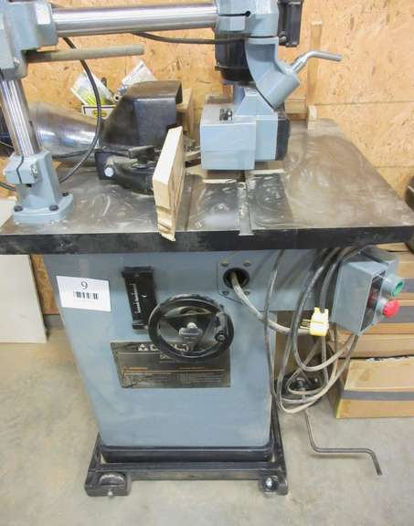 "Delta Heavy Duty Two-Speed Shaper with HTC Mobile Base, Model 48-379, 28"" x 27"" x 35""H, Feeder Not Included, Matches Lot No. 8"