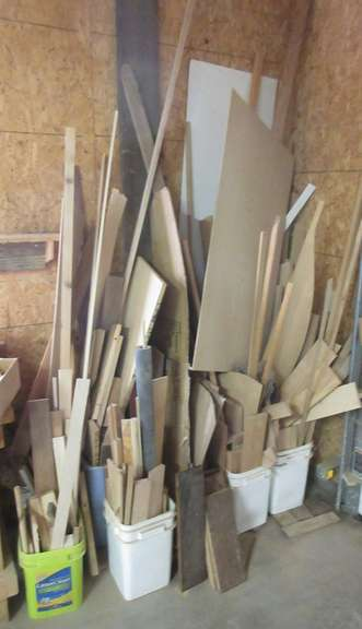 Corner Lot of Assorted Lumber and Pieces