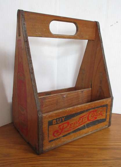 "Antique Pepsi Bottle Holder, 9""W x 11""H"