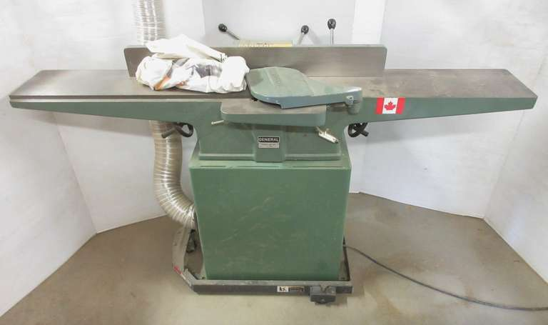 "General Jointer with HTC Mobil Base, Model 480, 65""L x 38""H"