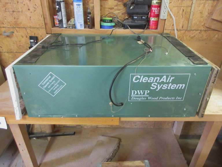 "Commercial Clean Air System, Item No. 60180, 35"" x 24"" x 12"""