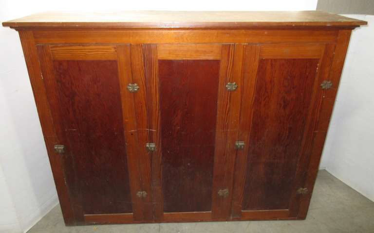 Older Cabinet with Three Doors and Three Shelves