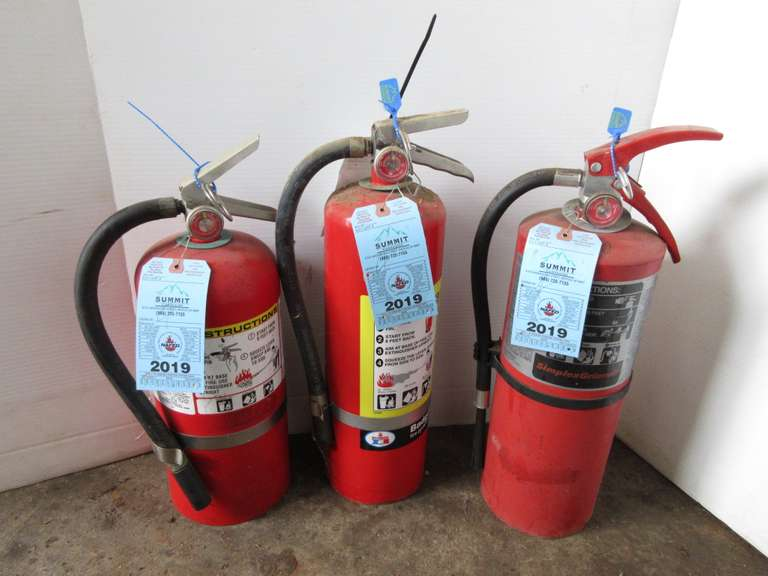 (3) Fire Extinguishers with Up to Date Certification