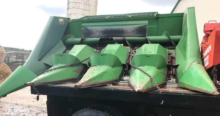 "John Deere 4-Row Snapper Head, 30"" Rows, Works Very Well, Field Ready, With a Chopper Adapter for a Self-Propelled Unit"