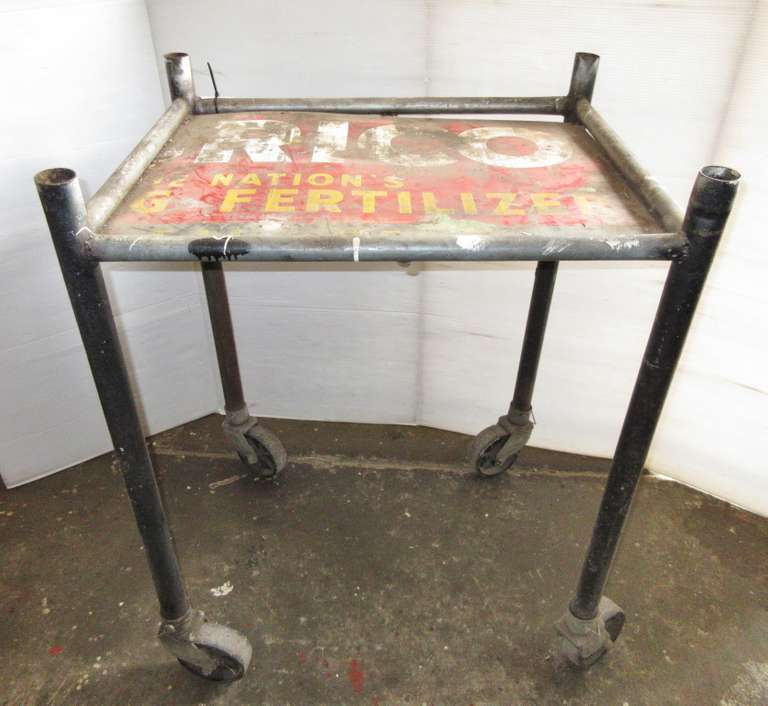 "Rolling Shop Stand, 28"" x 34"" x 43""H"