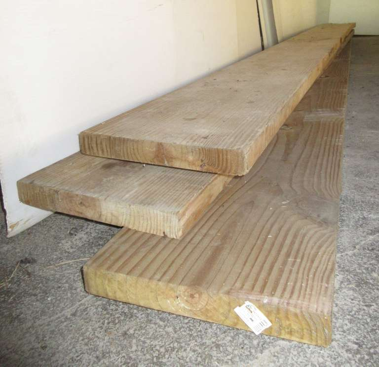 "(3) Treated Boards, 2"" x 12"" x 11'"