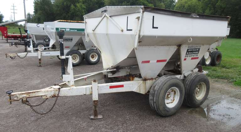 4-Ton Tandem Axle Fertilizer Spreader, 12.5L-15SL Tires, One Tire is Weather Checked, Control Letter L