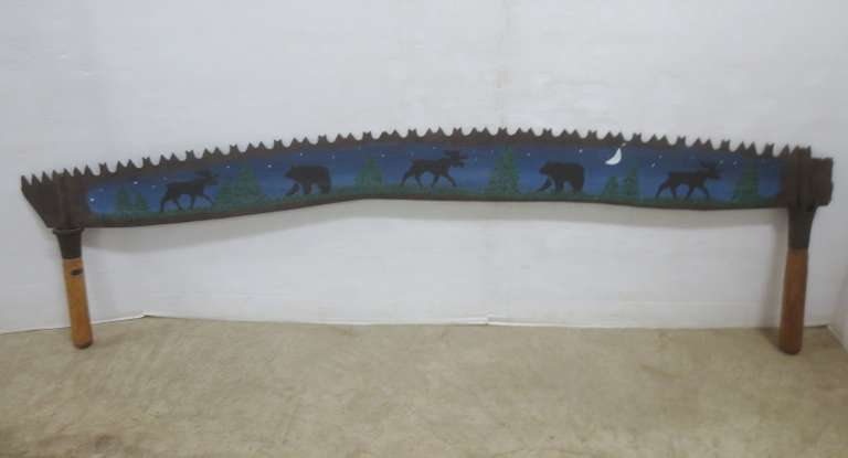 Older Hand Painted Decorative Crosscut Saw