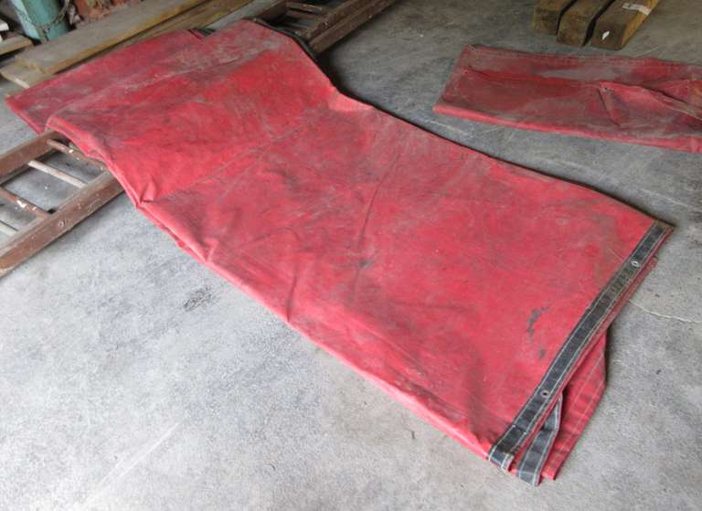 Red Heavy Duty Tarp, Approx. 20' x 14' and a Small Tarp that is As is