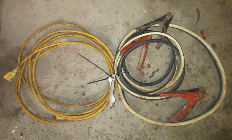 Jumper Cables and Extension Cords, As Is