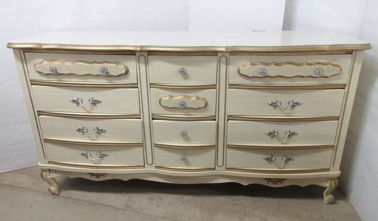 Solid Wood French Provincial 12-Drawer Dresser, Matches Lot No. 17