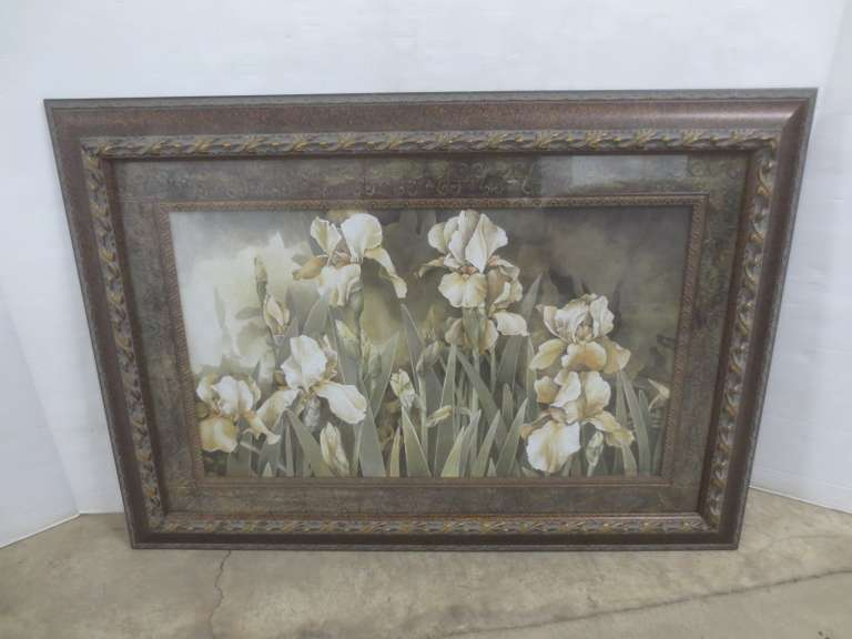 Large Framed Picture of Irises