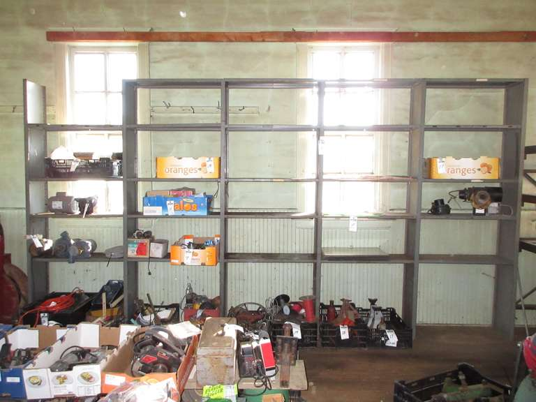 "Lyon Metal Wall Shelving Unit, 15'2""W x 12""D x 8'H, Contents Not Included"