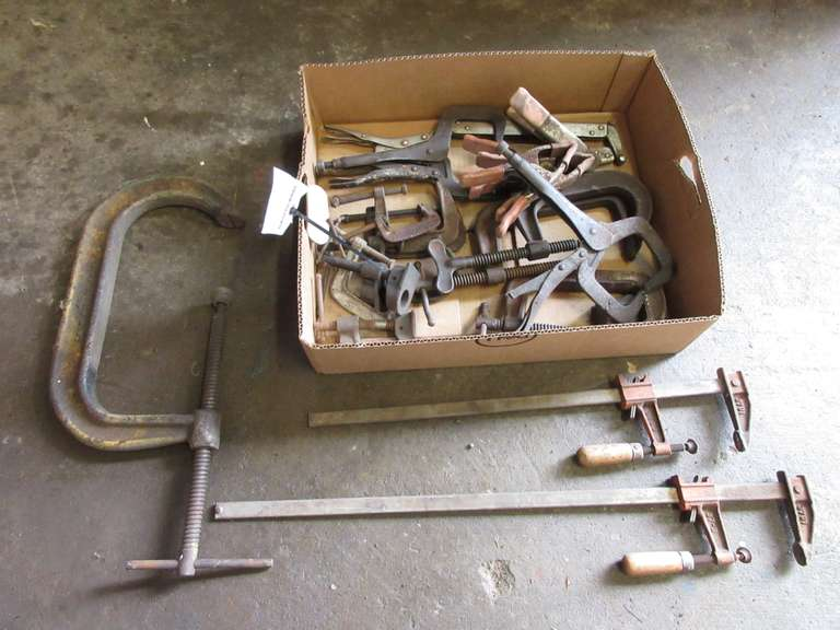 Group of Screw Clamps and Vise Grip Clamps