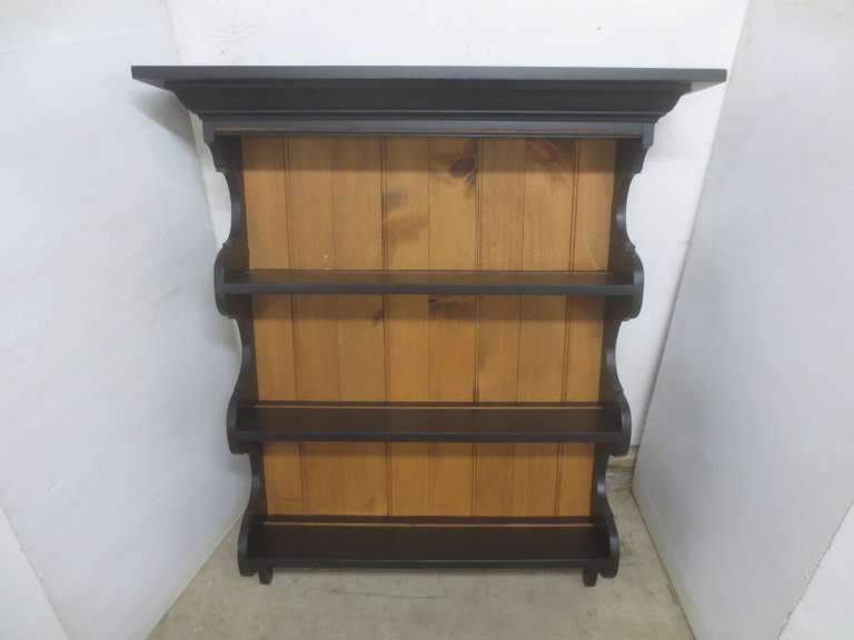 Large Three-Shelf Wall Cabinet with Pegs