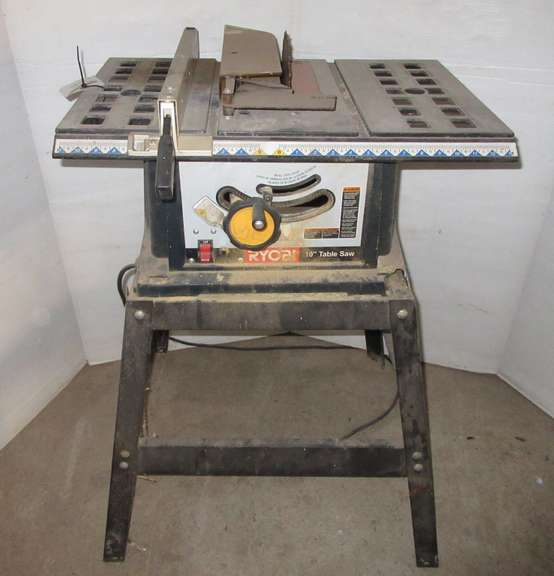 "RYOBI 10"" Table Saw on Stand, Works Well"
