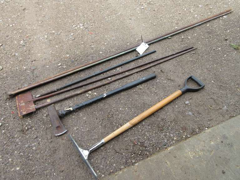 Large 8' Prybar, Wood Splitting Maul, Squeegee, and More