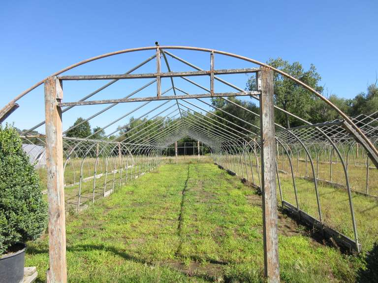 Greenhouse Frame, 20'W x 96'L x 10'H, Some Rust on Side Rails