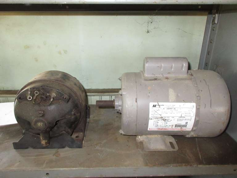 (2) Electric Motors, One is 1/2 HP, 115/230V, Single Phase, and Other is Unknown