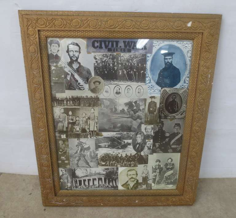 Older Civil War Collage in an Older Frame