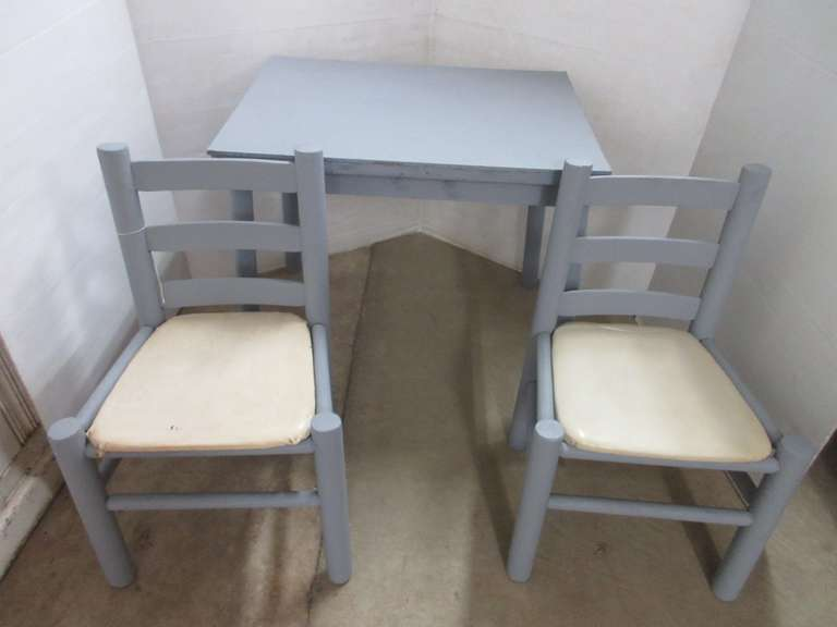 Childrens Table and Chair Set, All Wood