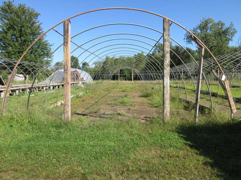 Greenhouse Frame, 20'W x 96'L x 10'H, Some Pipes Bent