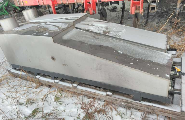 (2)-Stainless Steel 250-Gallon Saddle Tanks, Came Off John Deere 8420T Between Tracks and Cab