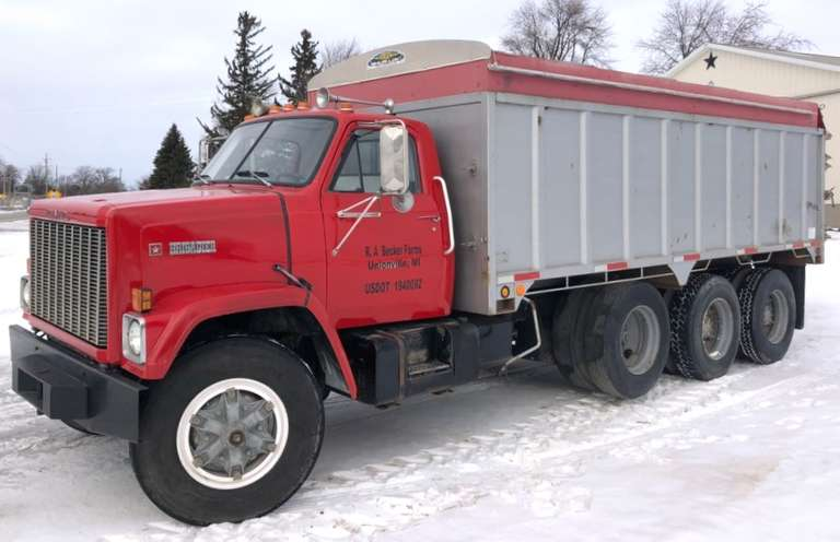 1984 GMC Brigadier Tri-Axle Truck with 18' Box, Detroit Diesel, Shur-Lok Roll Tarp, New Front Tires / Rims in 2019, Clean and Clear Title