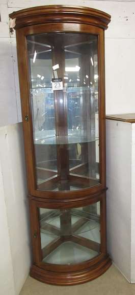 Corner Curio Cabinet, Lighted