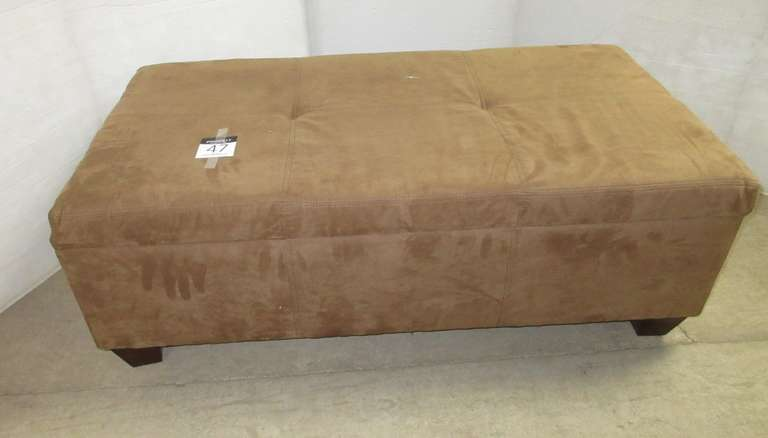 Large Brown Footstool, Opens for Storage
