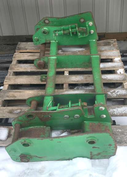 Quick Attach Fork Brackets for John Deere 740 Loader, No Forks - Brackets Only