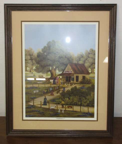 "Beth Cummings ""Traditions 1"" Coca-Cola Shack Print, Signed and Numbered 154/2000"