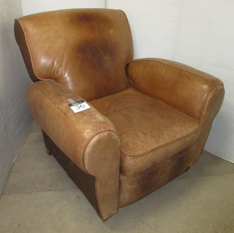 Older Barcalounger Leather Reclining Chair