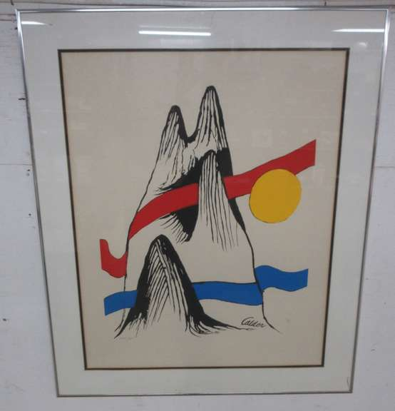 "Calder Original Artwork, Numbered and Signed, Title ""Mountain"""