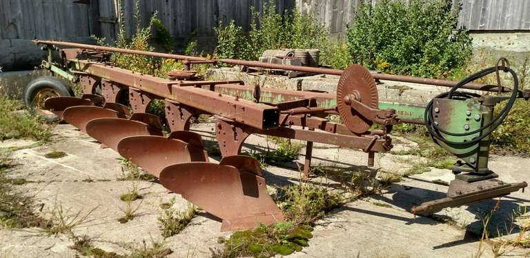"John Deere F1350-F1450 5-18"" Wide Bottom Plow, Has Not Been Used in Years, Fair Condition"