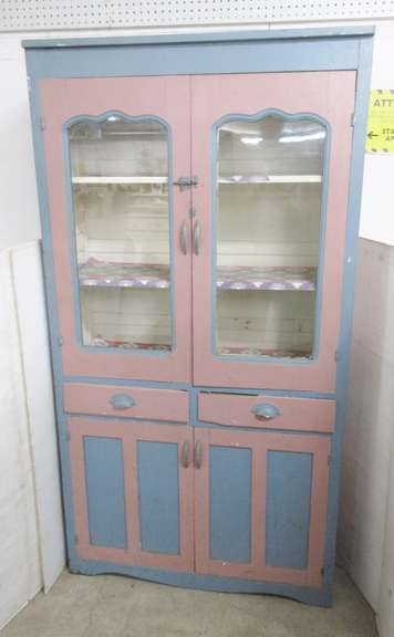 Antique Cabinet with Two Glass Doors