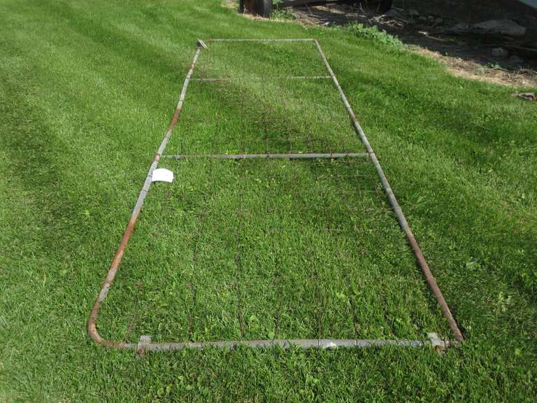 "Older Pipe Frame Gate with Page Wire, 35"" Tall x 13' Long"