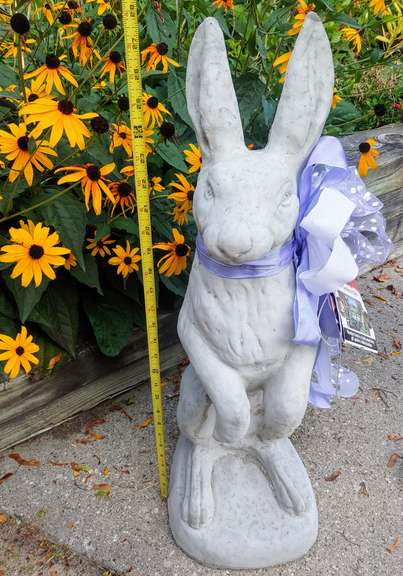 Large Cement Rabbit Statue