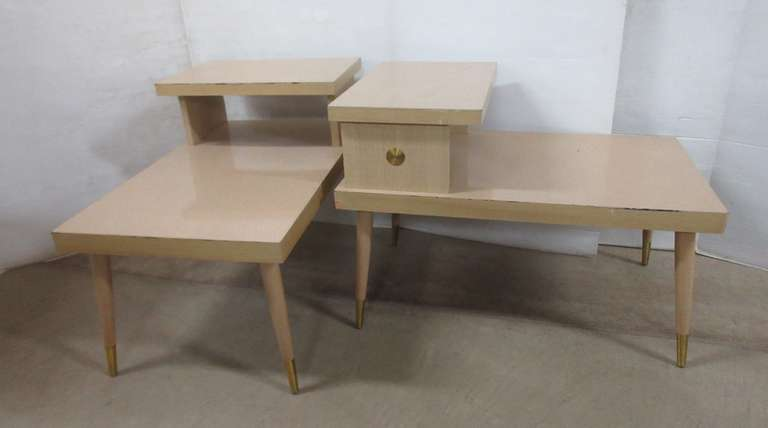 (2) Mid-Century Modern End Tables