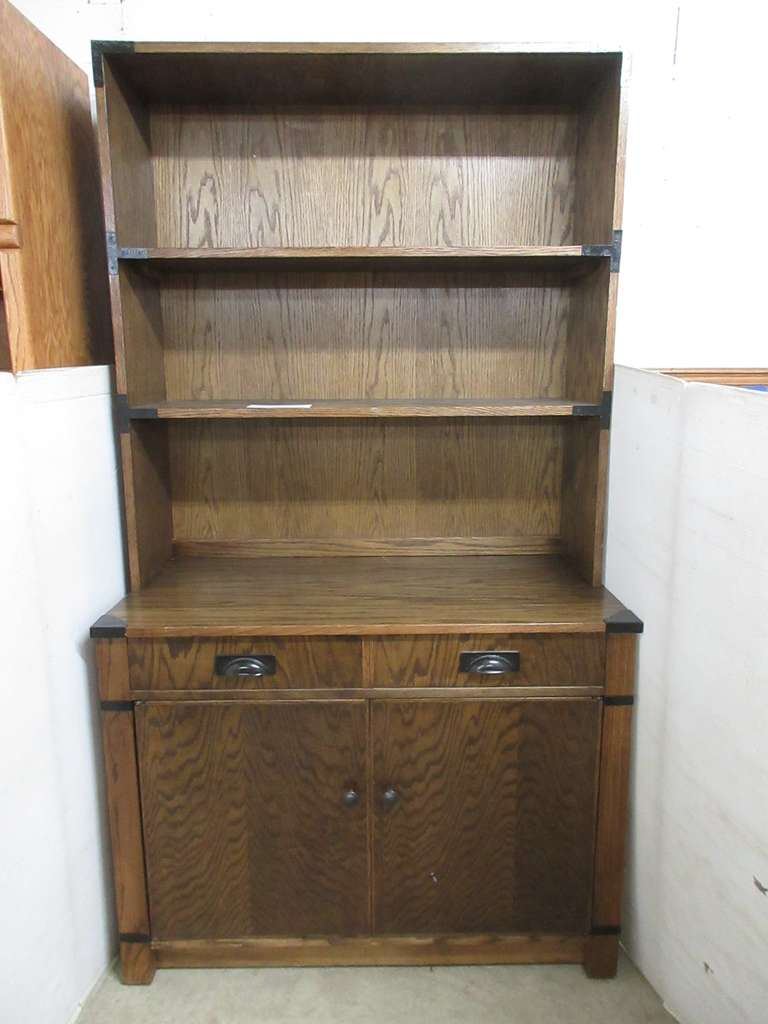 Hutch with Pull Out Dining Table, Comes with (6) Hinged Table Leaves