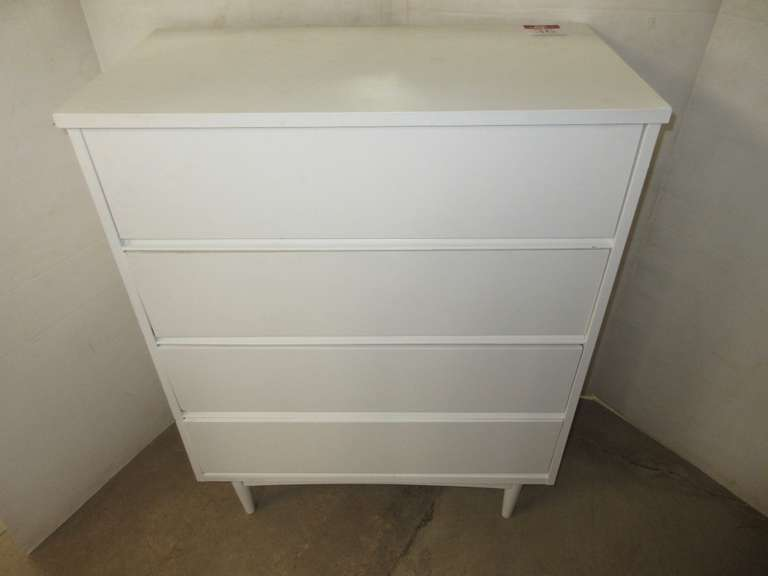 White Chest of Drawers with Four Shelves