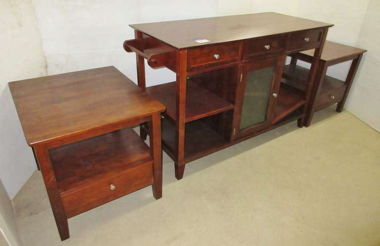 Buffet and (2) End Tables