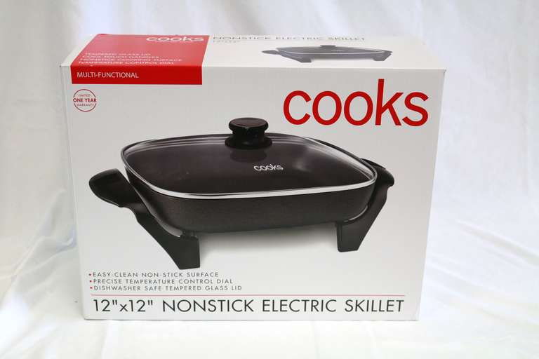 Cooks Covered Electric Skillet