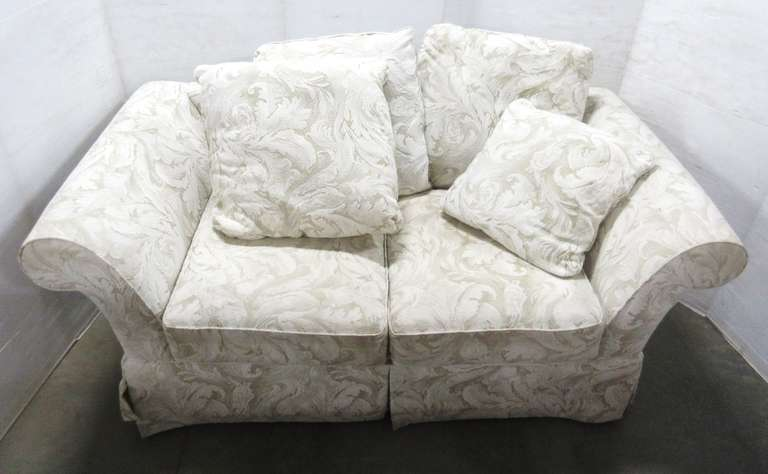 Cream Floral Loveseat