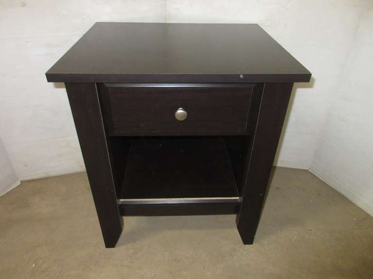 Black Wood Grain Night Stand