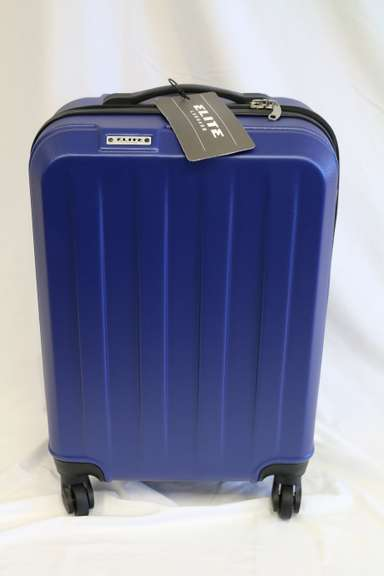 Navy Elite Expandable Carry-On Spinner Luggage