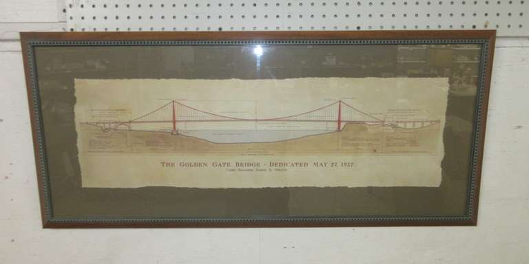 Golden Gate Bridge Blueprint/Architectural Plan by Craig S. Holmes