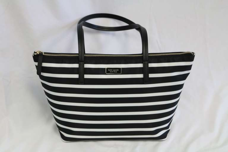 Kate Spade Hayden Sailing Stripe Top Zip Tote