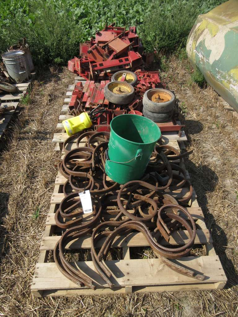 (3) Pallets of I.H. Cultivator Parts and S-Tine Shanks