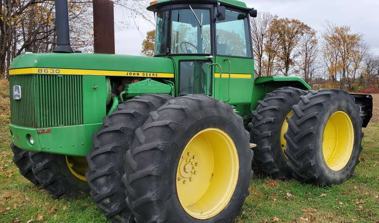 John Deere 8630 Tractor, (Hours Unknown), 3-Outlets, 1000 PTO, Quad Range, Hole in Block (Does NOT Run)